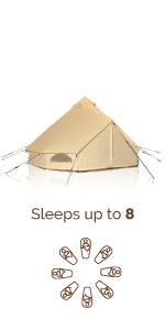 100% cotton canvas tent