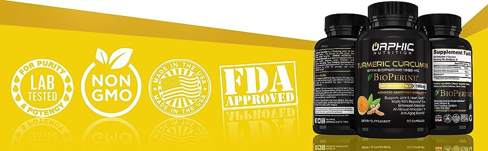 tumeric organic ginger pain pills relief inflammation vegan curcuminoids rheumatoid arthritis