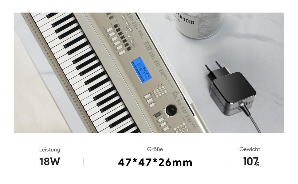TAIFU Cargador de 12 V para teclado Yamaha Midi PA-3 PA-3C PA-3B PA-40 PA-5 PA-5C PA-5D PA-6 P-70 PA-150 PA-130 PA150 YPT ez-150 ez-200 dgx-200 ...