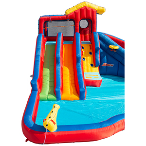 Banzai, water park, inflatable, bounce house, slide, splash, pool, backyard, outdoor