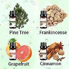 pine tree frankincense grapefruit cinnamon antural 100 pure essential oil