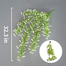 artificial hanging plants outdoors