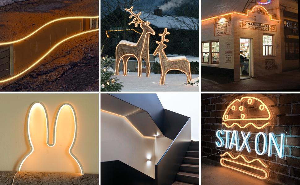 Shine Decor LED Neon Rope Lights Decoration Scenes