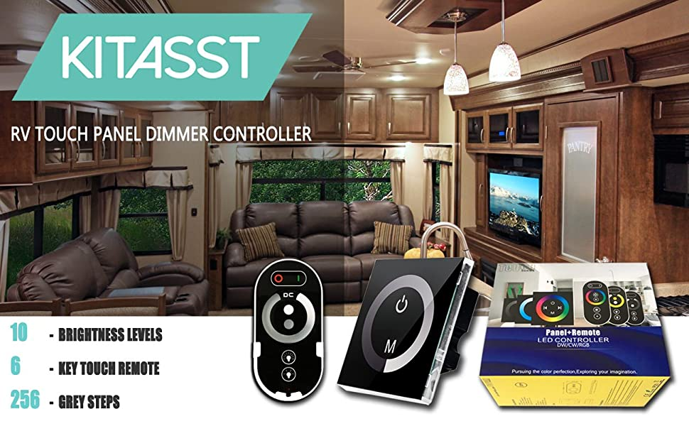 KITASST 12V LED RV Lights Dimmer Switch