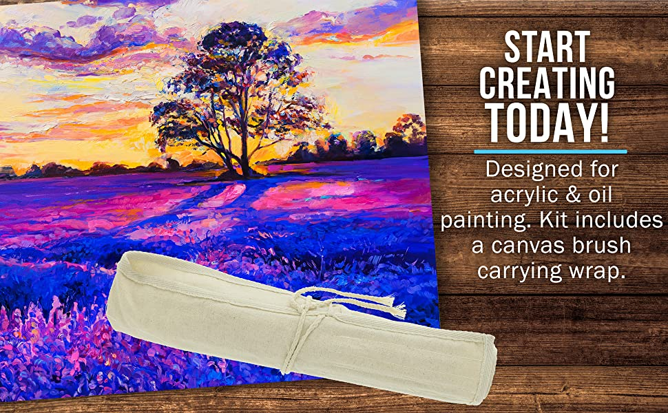 U.S. Art Supply 24 Piece Long Handle Brush SEt