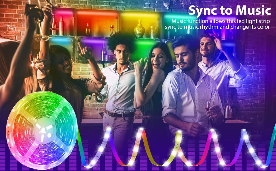 led strip lights music sync
