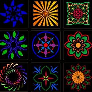 imoli 36 pi/èces Mandala peinture pochoirs mod/èles de dessin r/éutilisables pour bois roche mur Art artisanat meubles bricolage 3.54 * 3.54 pouces