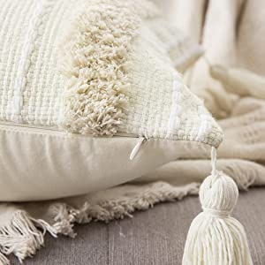 pillowcase with tassels exquisite tufting cushion case fluffy luxury