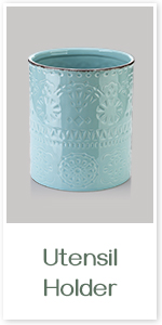 Teal Utensil Container