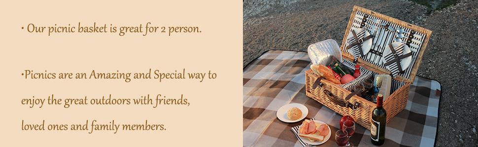 picnic basket,picnic basket for 2