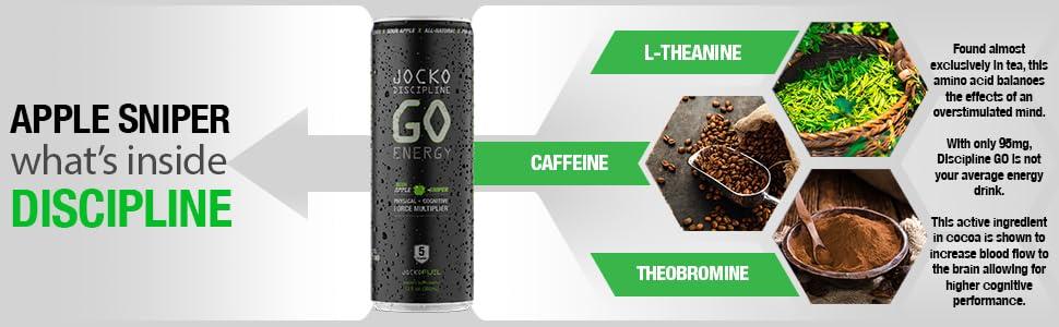 natural energy drink caffeine l-theanine zero sugar free monk fruit sweetener sour apple flavor