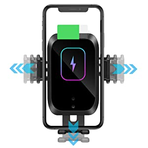 Wireless Car Charger Auto-Clamping Phone Mount