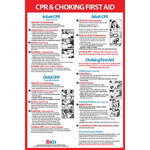 CPR amp; Choking First Aid Chart