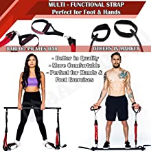 Manual /& Guide Pilates Bar Kit with Extra Resistant Band and Easy Carry Bag