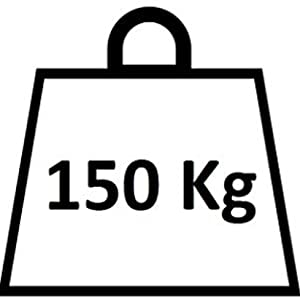 Tot 150 kilo gewicht.