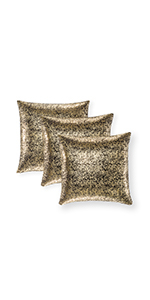 silver sparkle pillow black glam throw pillows black  body pillow cover black and gold euro pillows