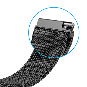 Qusfy 20mm Metal band for galaxy watch active 2 & active 40mm & galaxy watch 42mm