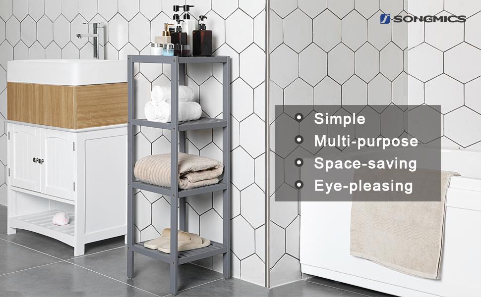 4-tier bathroom shelf