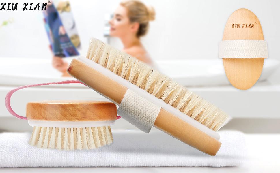 shower body brush in your bathroom