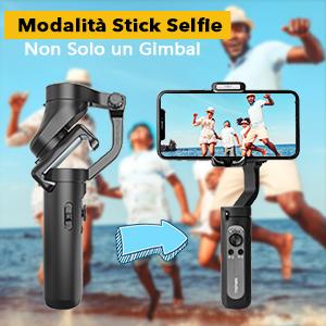 Modalità selfie stick
