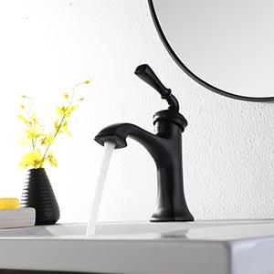 bathroom sink faucet black