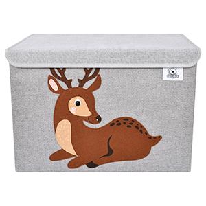 animal cube storage bins toy chest organizer canvas fabric
