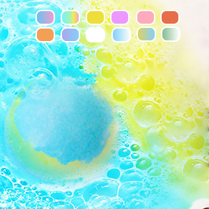 The bath bombs can fully soluble in water, fast-dissolving bath balls