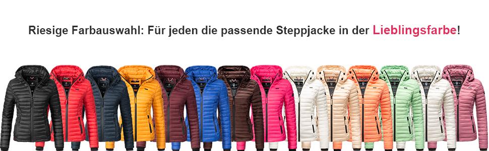 Marikoo Damen /Übergangs-Jacke Steppjacke Samtpfote XS-XXL