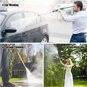 Wasgerei in de auto