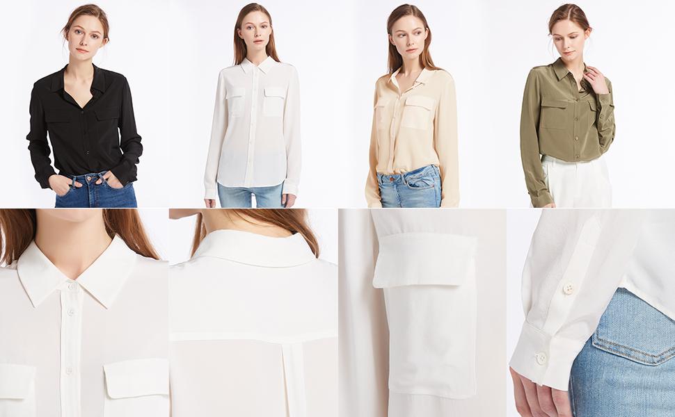silk dress shirts for women