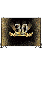 Thirty Years Old Age Party Decoration Photo Banner Photobooth Props
