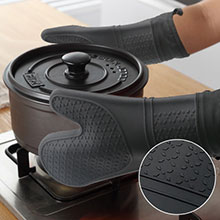 2pk Heat Resistant Little Oven Gloves for Cooking Non-Slip Grip Almond Milk 5.5 x 7.5 Cuisinart Silicone Mini Oven Mitts Hanging Loop Ideal for Handling Hot Kitchen // Bakeware Items