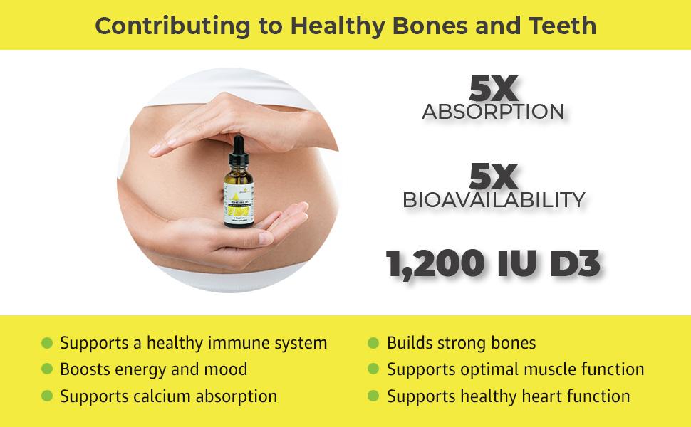 Micellized Vitamin D3 maximum absorption natural immune booster bone support