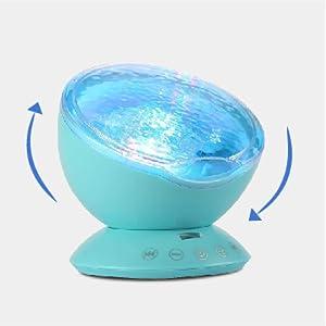 mermaid lamp ocean waves light projector mermaid decor light