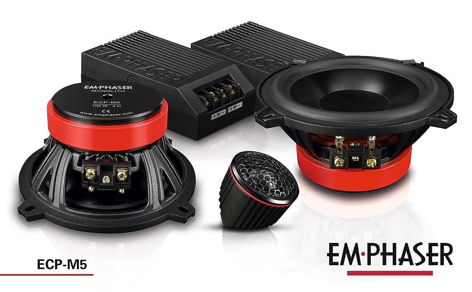 Emphaser ECP-M5: 13 cm 2-Wege Lautsprecher / Komponentensystem fürs Auto