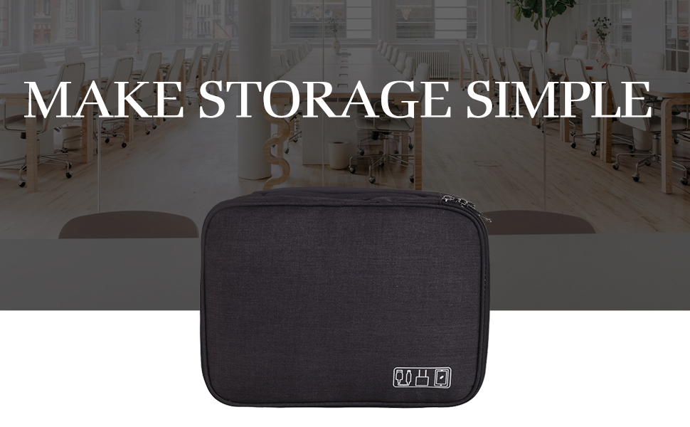 Large Travel Case Cable Organizer for Electronic Laptop Accessories