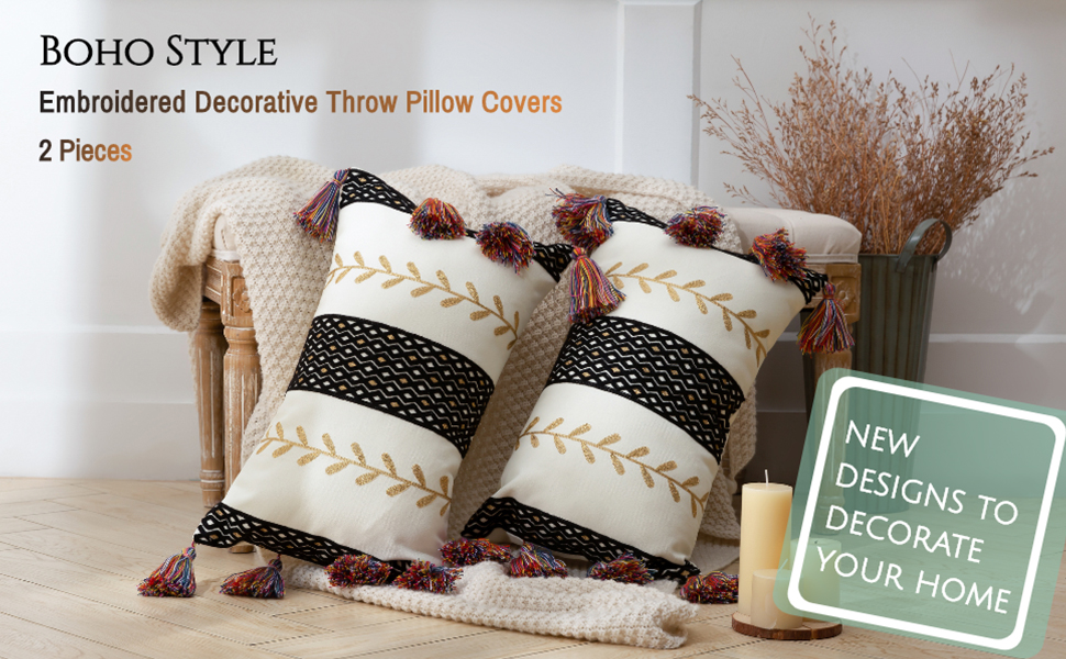 moroccan pillow cover pillow decorative for sofa gold tassel throw pillow cover boho pillow cover