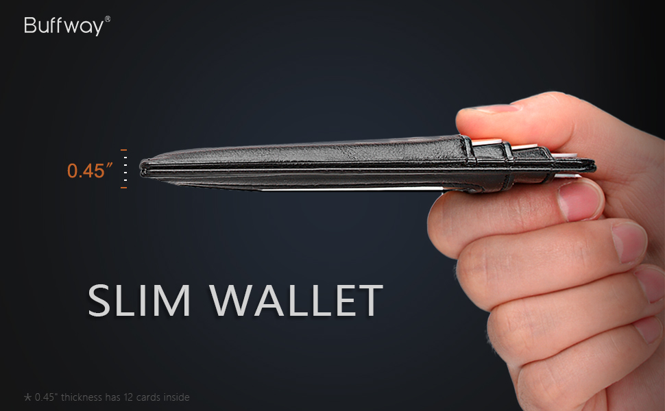 buffway wallet slim wallet Minimalist wallets
