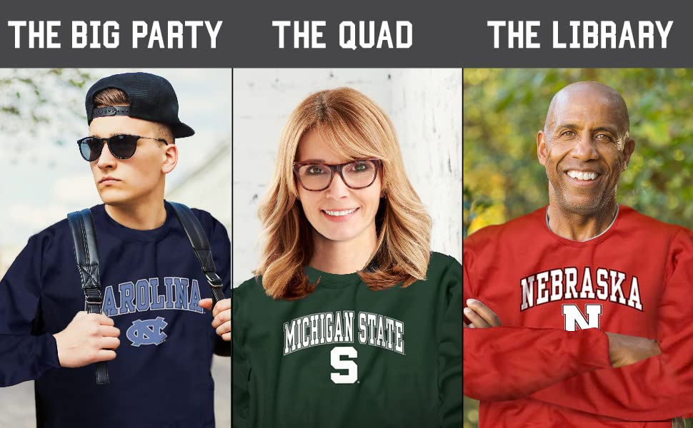 Wear to… the tailgate, the big party, the quad, the library, & the big game.
