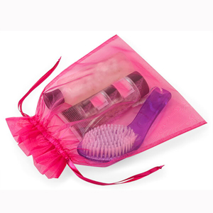 hot pink favor bags