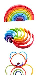 wooden rainbow stacker