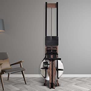 Black walnut wood rowing machine