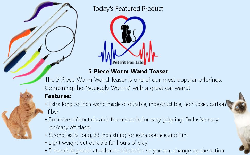 Cat Toy Worm Toy