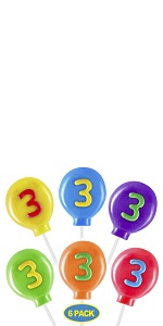 12 Number Lollipops for Birthday Party Favors and Decoration