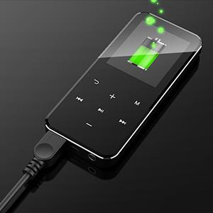 Auricolari Supporto Fino 128GB CACAGOO Lettore MP3,Bluetooth 16GB Portatile Lossless Sound MP3 Lettore Musica Cuffie, Fascia da Braccio Sportiva Inclusa MP3 Player con Radio FM//Registratore Vocale
