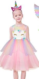 Girls Unicorn Dress