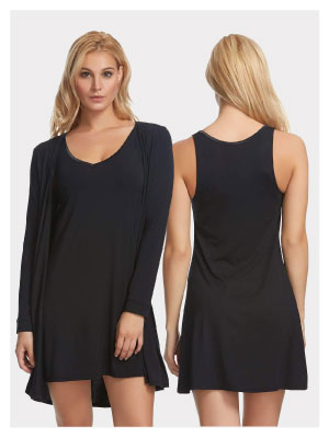 chemise and wrap front and back side