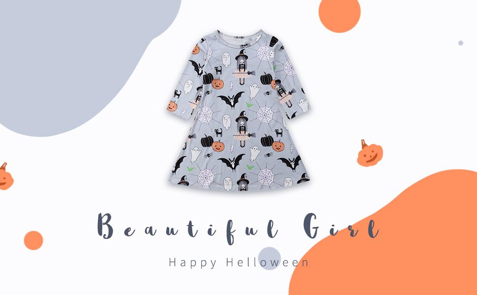 A-line dress for girl halloween