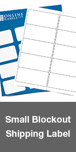 block out shipping mailing label