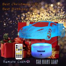 3d toy car night light Christmas birthday bday gifts for boys girls teen men cave decor